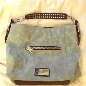Grey and black Marc New York purse